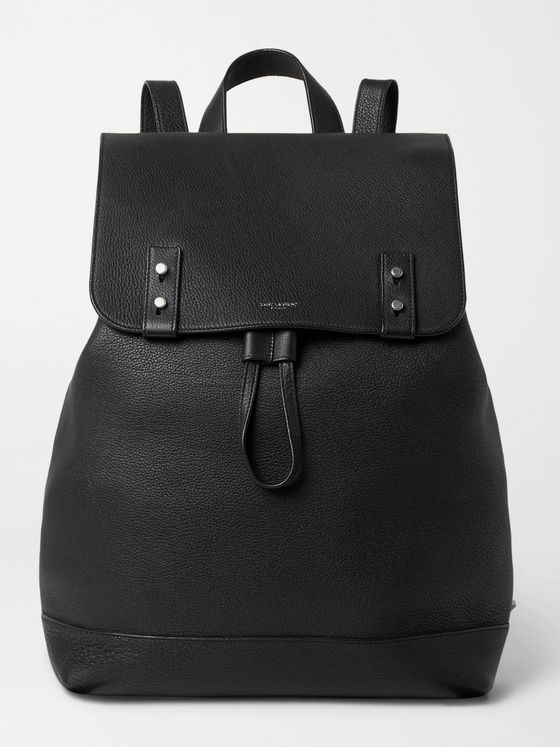 SAINT LAURENT Full-Grain Leather Backpack