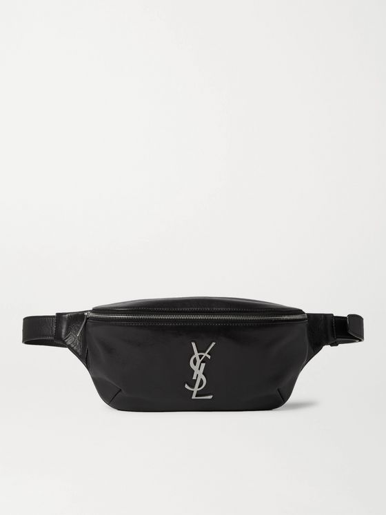 SAINT LAURENT Logo-Appliquéd Leather Belt Bag