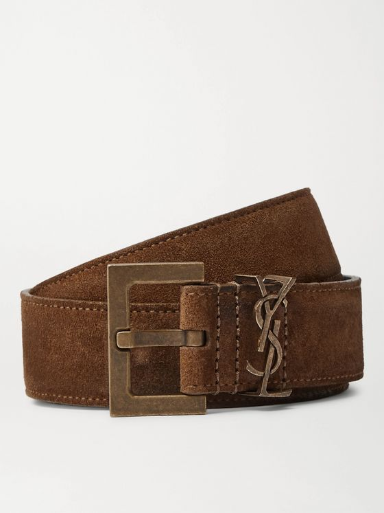 SAINT LAURENT Suede Belt