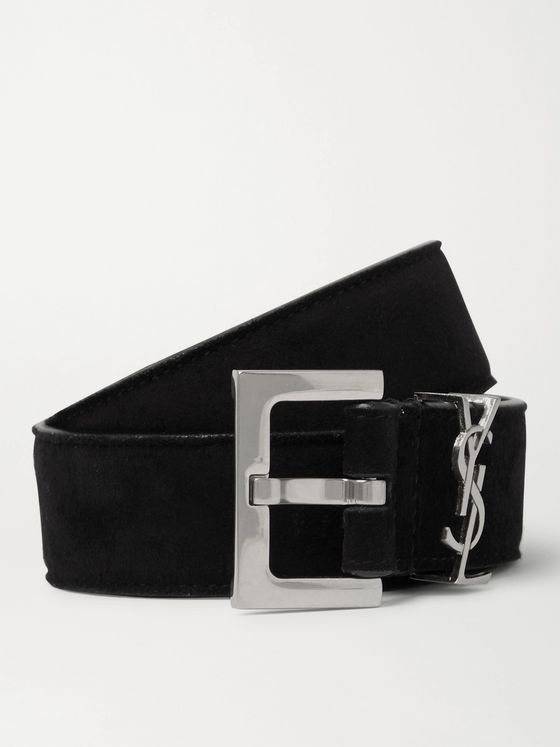 SAINT LAURENT 3cm Suede Belt
