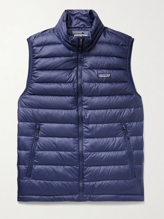 PATAGONIA Slim-Fit Quilted DWR-Coated Recycled Ripstop Down Gilet