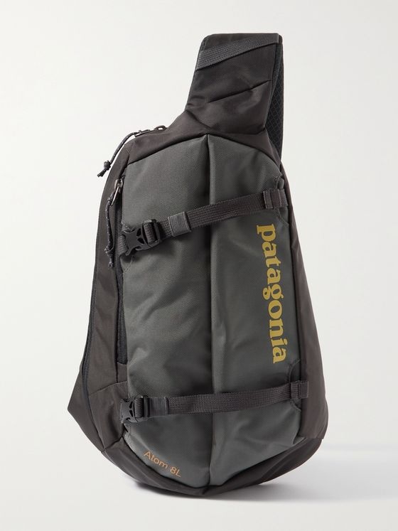 PATAGONIA Atom Sling 8L Logo-Print Recycled Canvas Messenger Bag