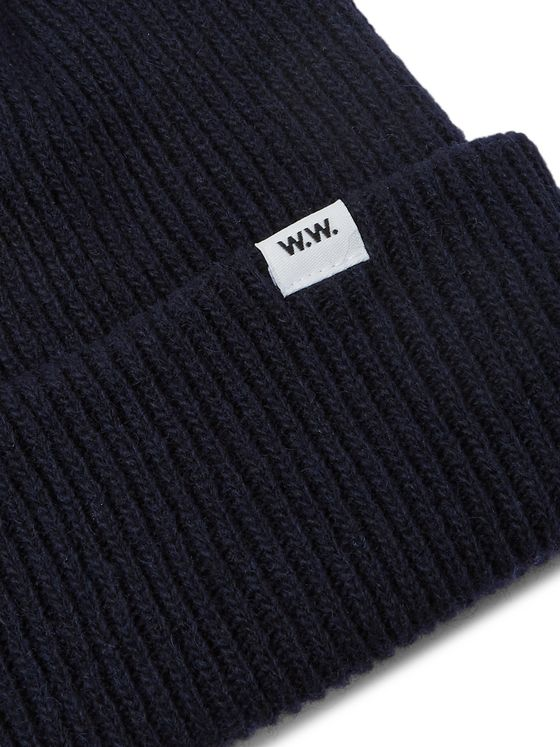 Wood Wood Mande Ribbed Wool-Blend Beanie