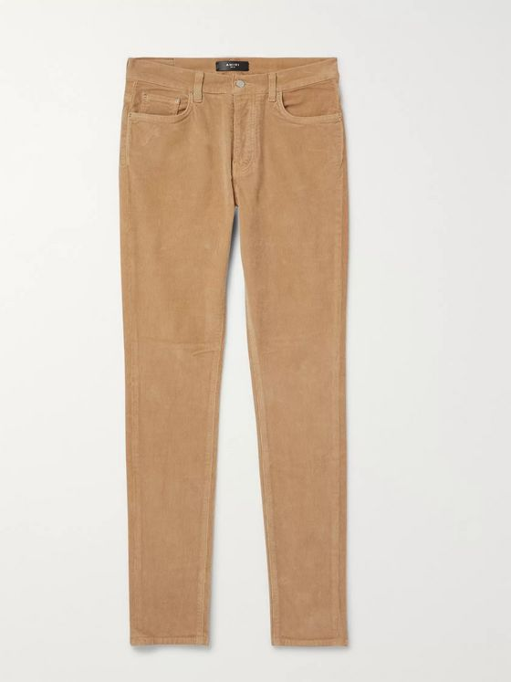 AMIRI Skinny-Fit Stretch-Cotton Corduroy Trousers