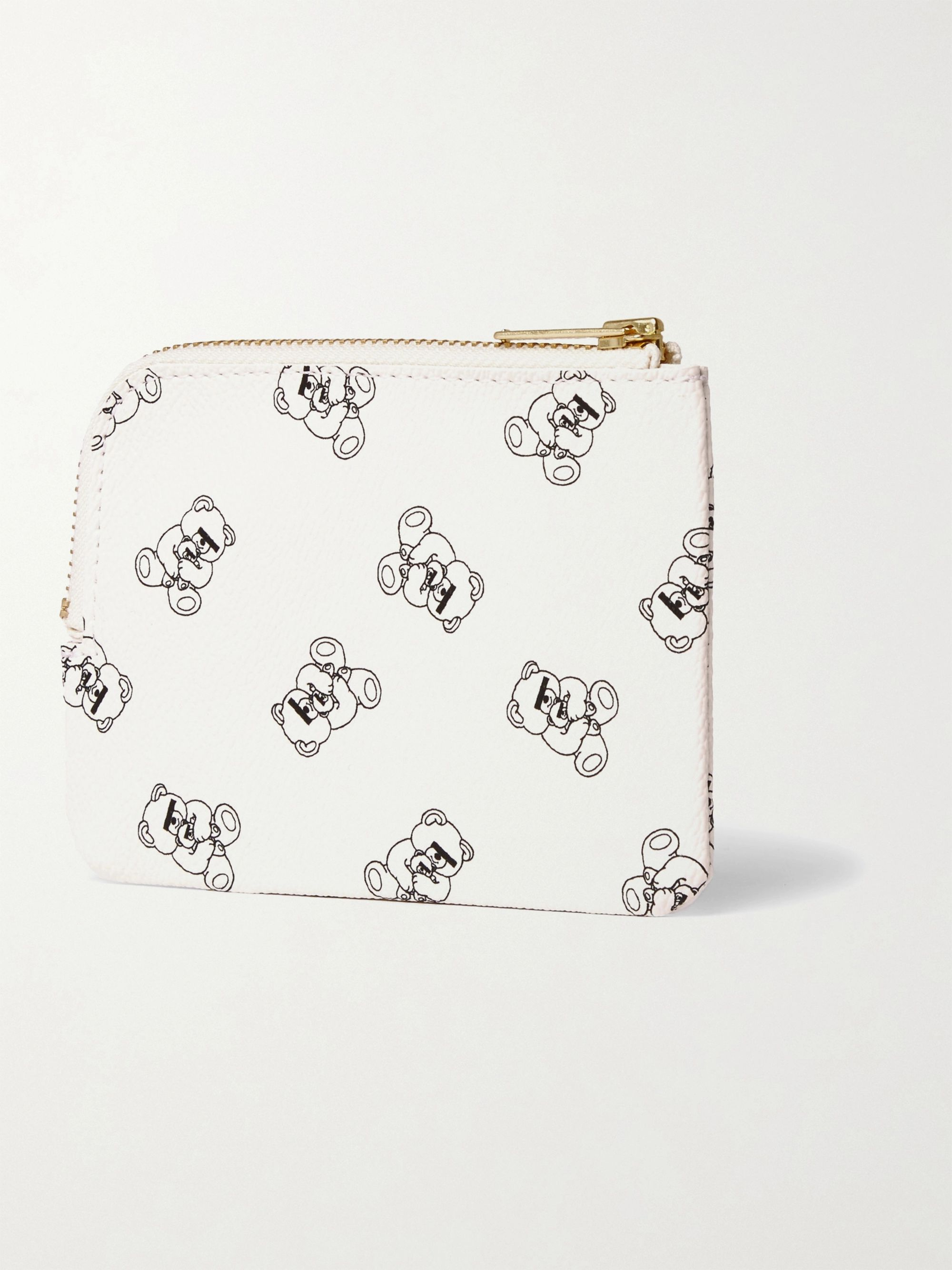White Ubear Printed Faux Leather Wallet | Undercover