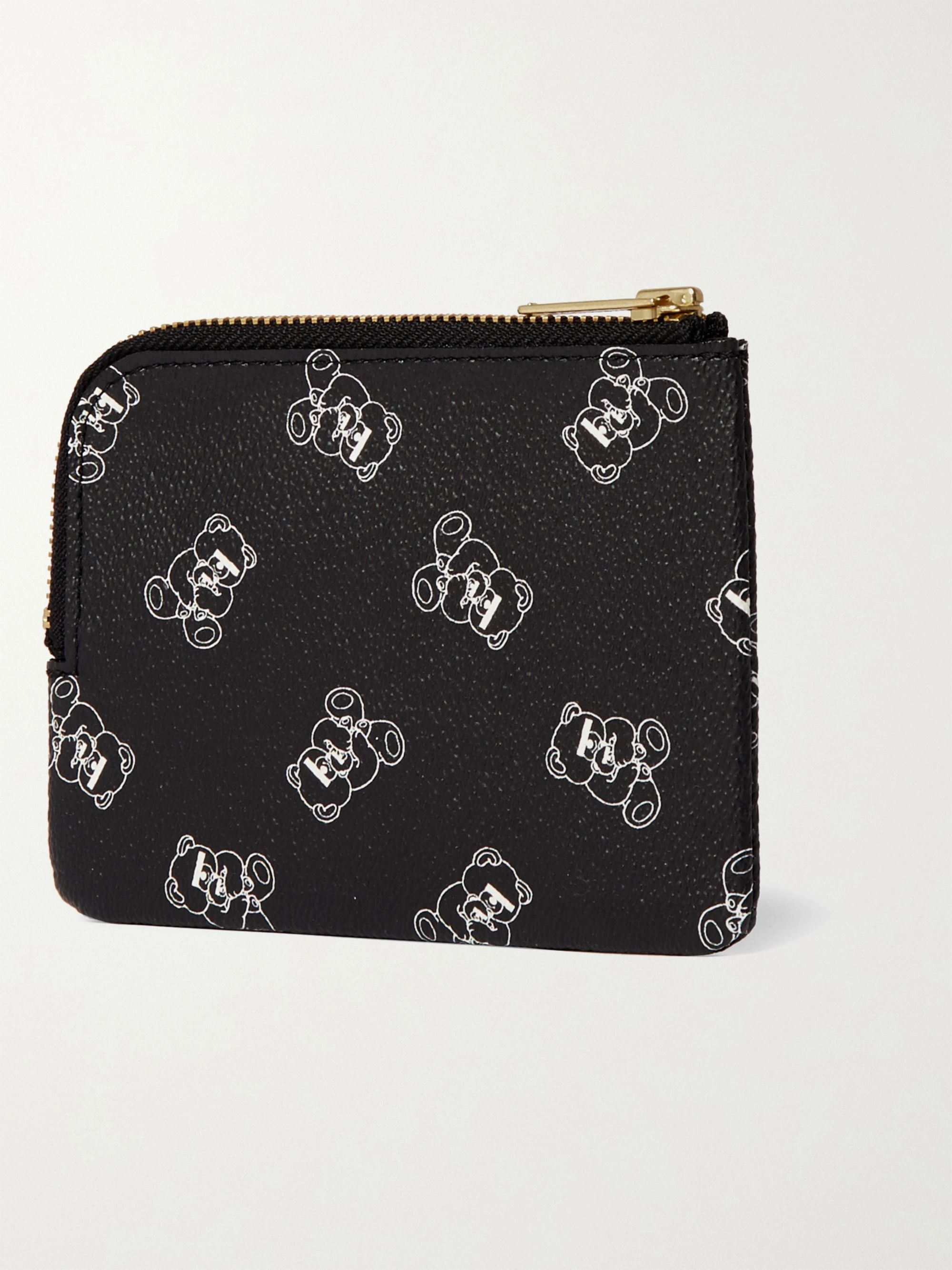 Black Ubear Printed Faux Leather Wallet | Undercover