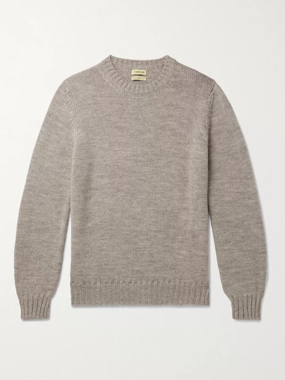 DE BONNE FACTURE Mélange Alpaca and Wool-Blend Sweater