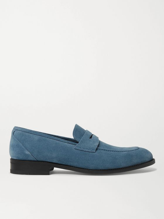 MANOLO BLAHNIK George Suede Penny Loafers