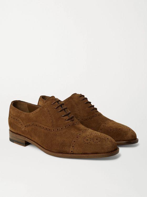 Manolo Blahnik Witney Suede Oxford Brogues