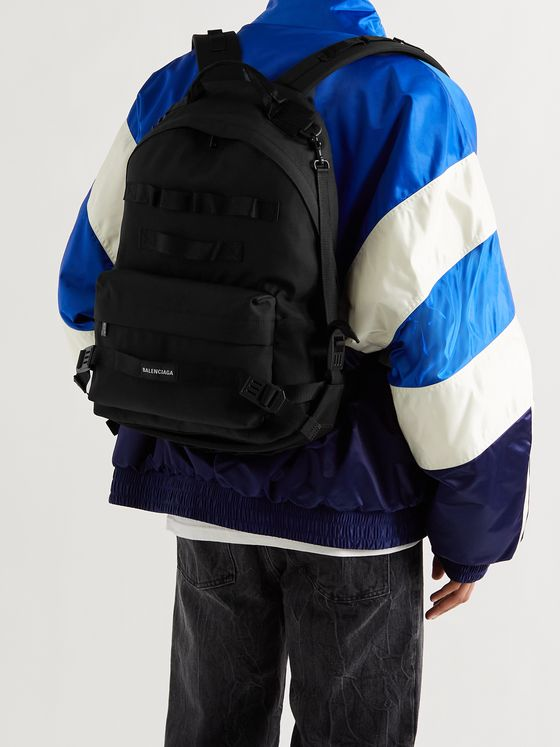 BALENCIAGA Webbing-Trimmed Canvas Backpack