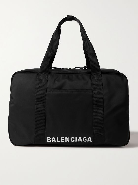 BALENCIAGA Logo-Embroidered Recycled Canvas Holdall