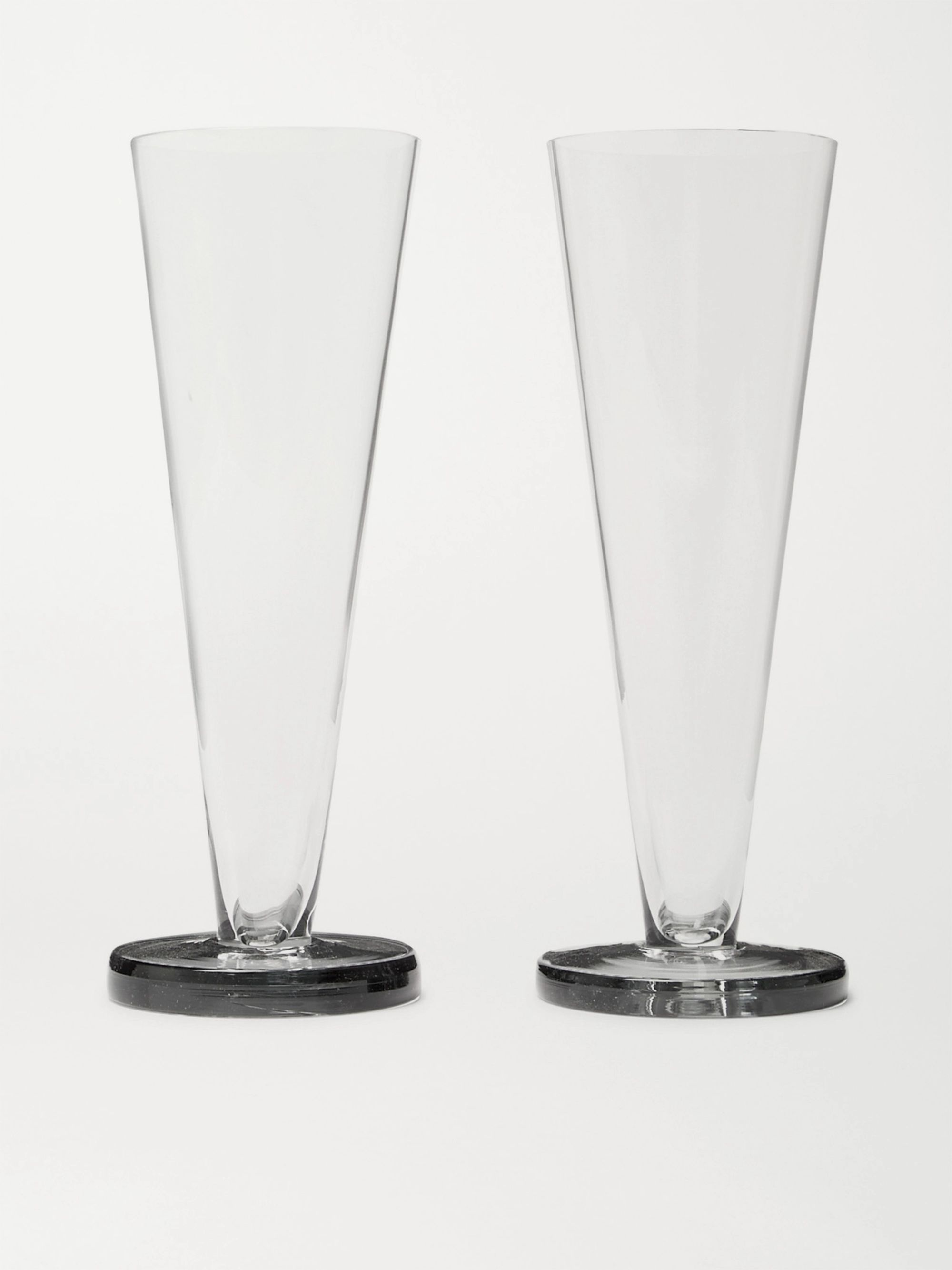 Tom Dixon Puck Set of Two Flute Glasses