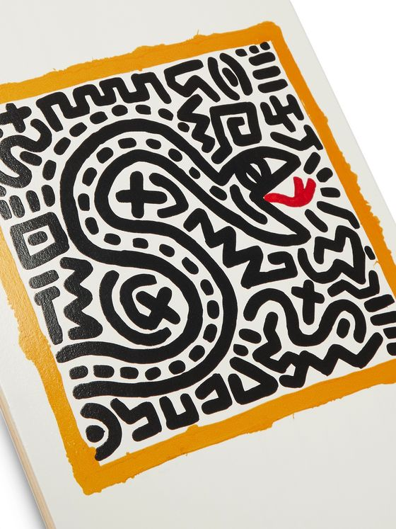 THE SKATEROOM + Keith Haring Untitled (Snake) Printed Wooden Skateboard