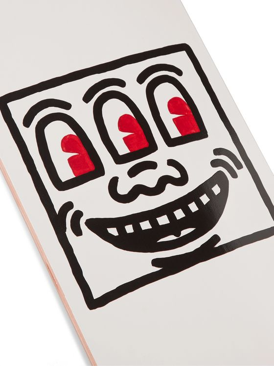 THE SKATEROOM + Keith Haring Untitled (Smile) Printed Wooden Skateboard