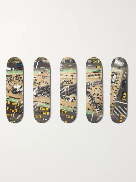 The SkateRoom + JR Migrants, Walking New York City, New York, USA, 2015 Set of Five Printed Wooden Skateboards
