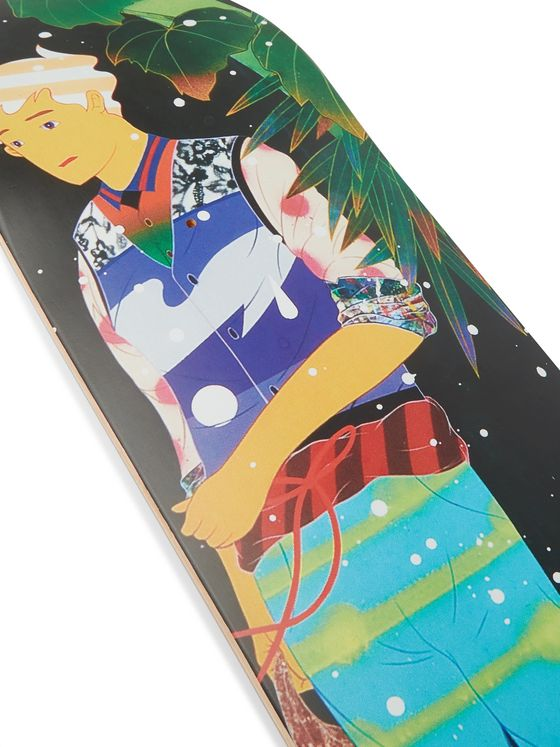 The SkateRoom + Peanuts by Tomokazu Matsuyama Set of Three Printed Wooden Skateboards