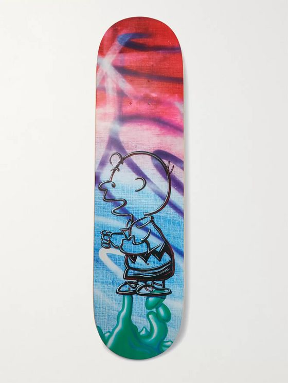 THE SKATEROOM + Peanuts by Kenny Scharf Printed Wooden Skateboard