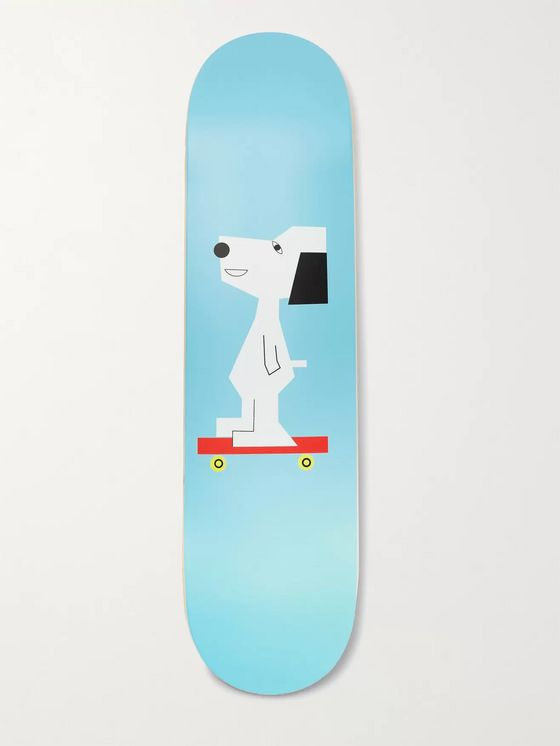 THE SKATEROOM + Peanuts by Nina Chanel Abney Printed Wooden Skateboard