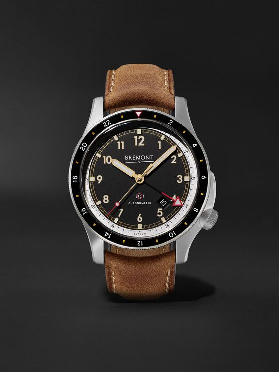Bremont ionBird 43mm Automatic GMT Titanium and Nubuck Watch, Ref. No. IONBIRDMODEL12020-R-S