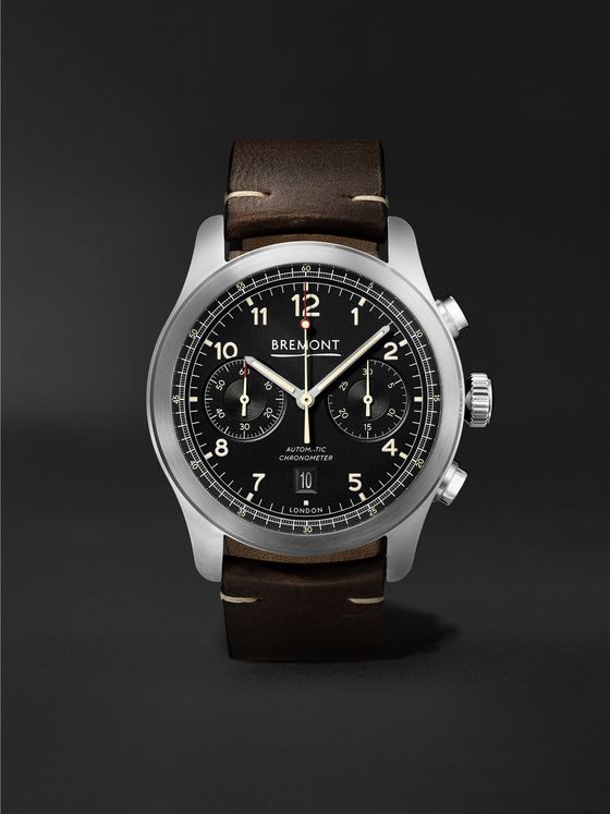 BREMONT ALT1-C Griffon Automatic Chronograph 43mm Stainless Steel and Leather Watch, Ref. No. ALT1-C-GRIFFON-R-S