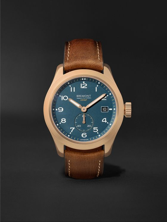 BREMONT Broadsword Bronze Sotek Automatic 40mm Bronze and Nubuck Watch, Ref. BROADSWORD-BZ-GR