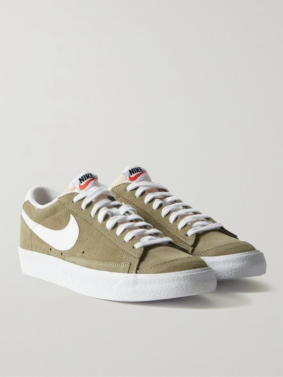 NIKE Blazer Low '77 Leather-Trimmed Suede Sneakers