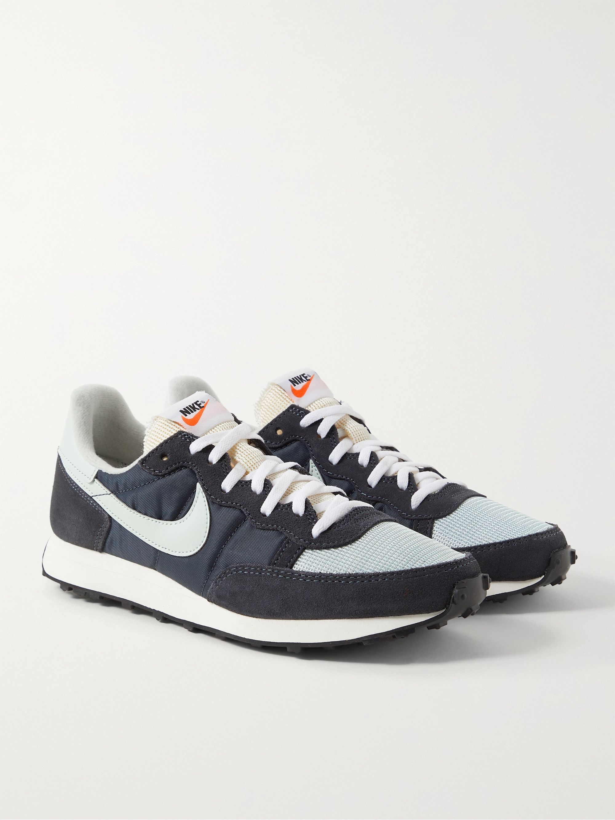 NIKE Challenger OG Nylon, Mesh, Suede and Leather Sneakers