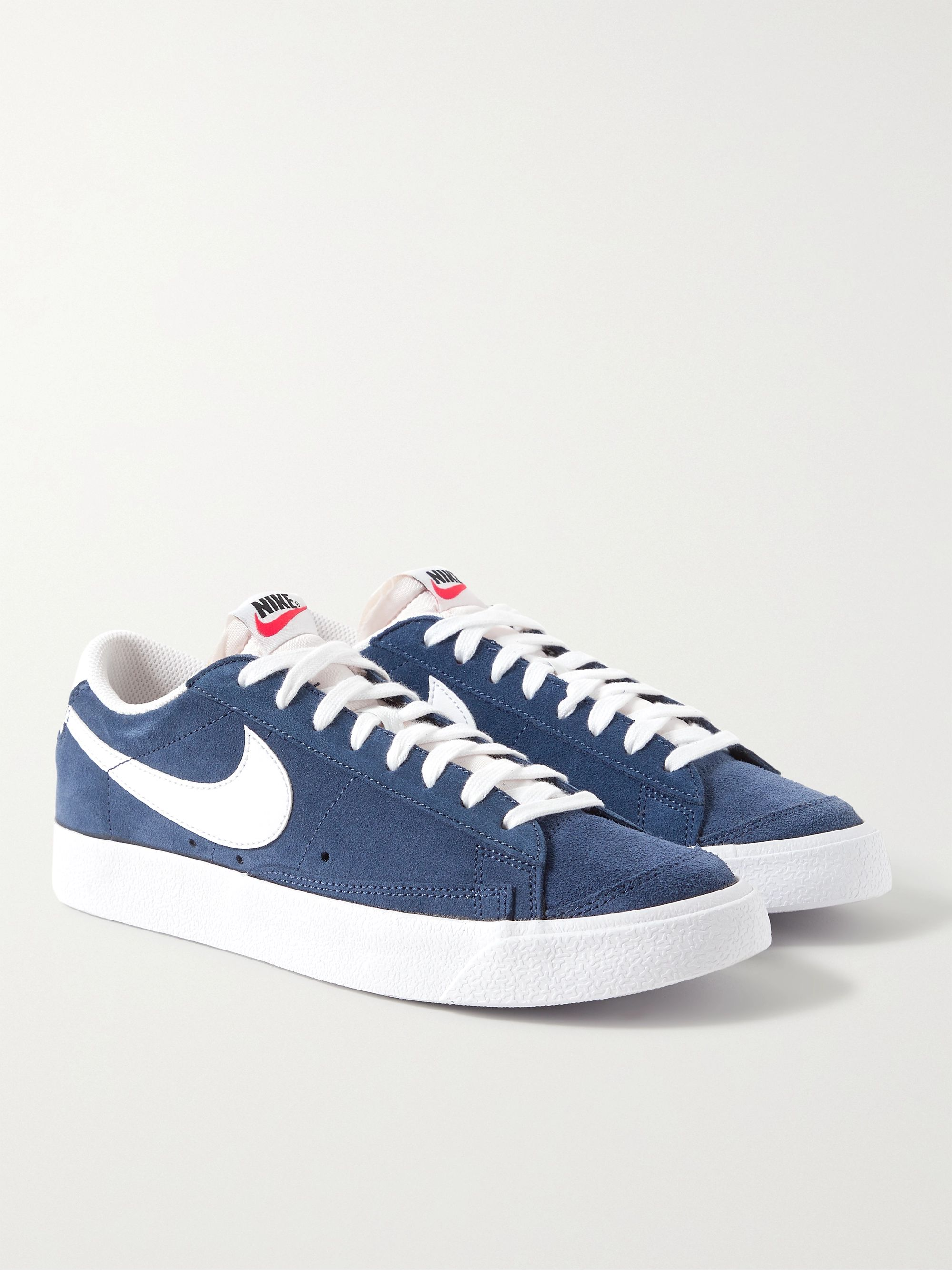 NIKE Blazer Low 77 Leather-Trimmed Suede Sneakers