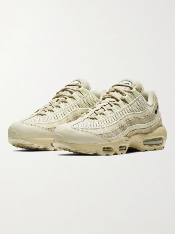NIKE Air Max 95 PRM Leather, Suede and Mesh Sneakers