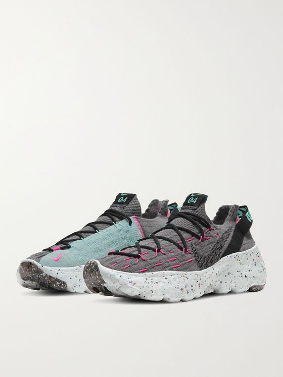 NIKE Space Hippie 04 Recycled Stretch-Knit Sneakers