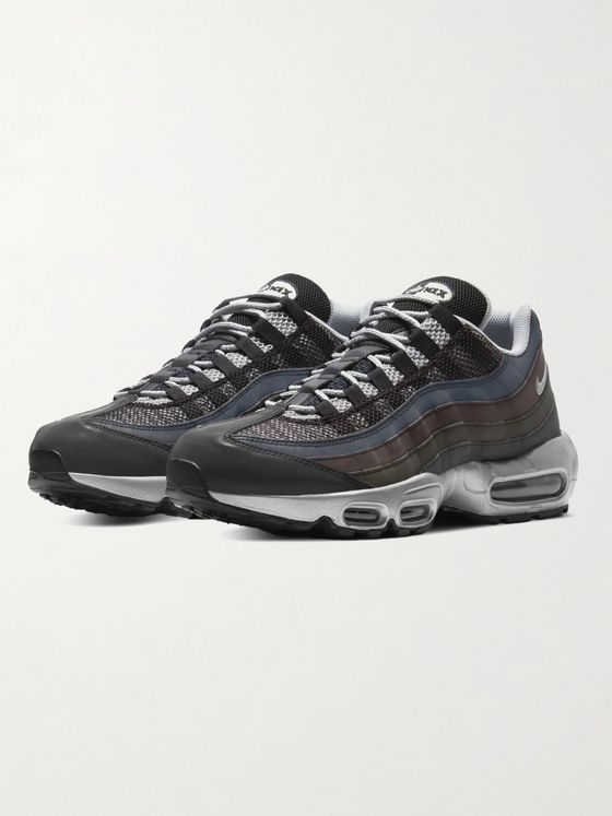 NIKE Air Max 95 PRM Reflective Leather, Suede and Mesh Sneakers
