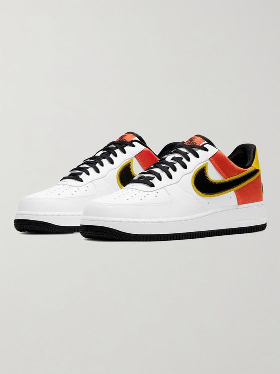 NIKE Air Force 1 07 LV8 Rayguns Satin-Trimmed Leather Sneakers
