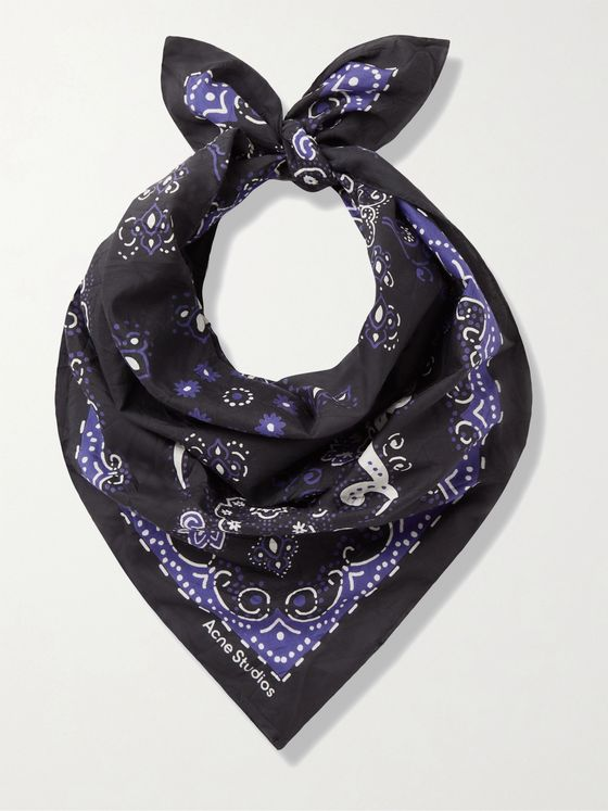 ACNE STUDIOS Printed Cotton and Silk-Blend Bandana