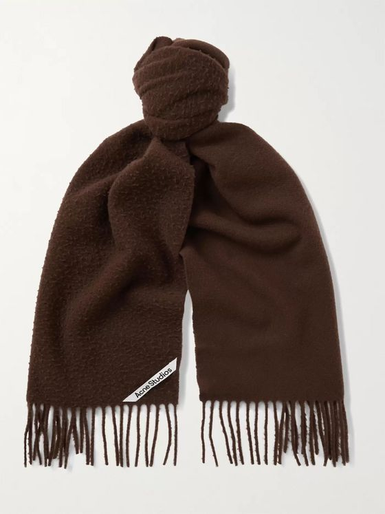 ACNE STUDIOS Fringed Brushed-Wool Scarf