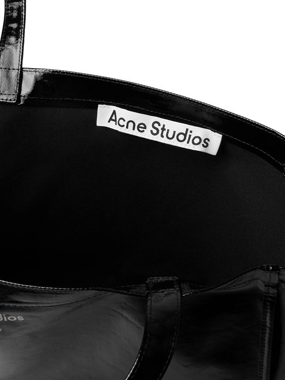 ACNE STUDIOS Logo-Print Coated-Twill Tote Bag