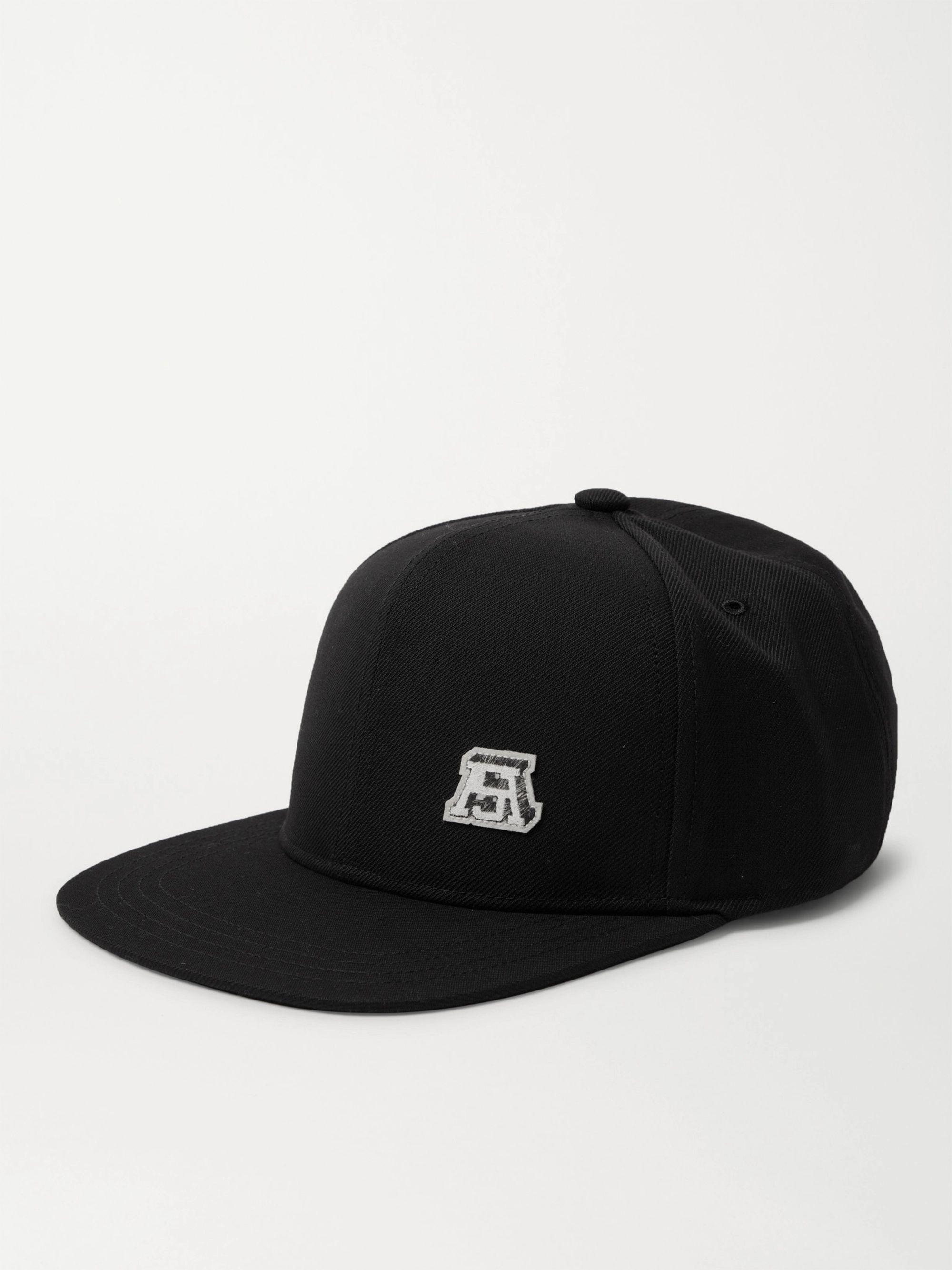 아크네 스튜디오 볼캡 모자 Acne Studios Logo-Appliqued Twill Baseball Cap,Black