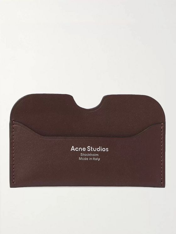 ACNE STUDIOS Logo-Print Leather Cardholder