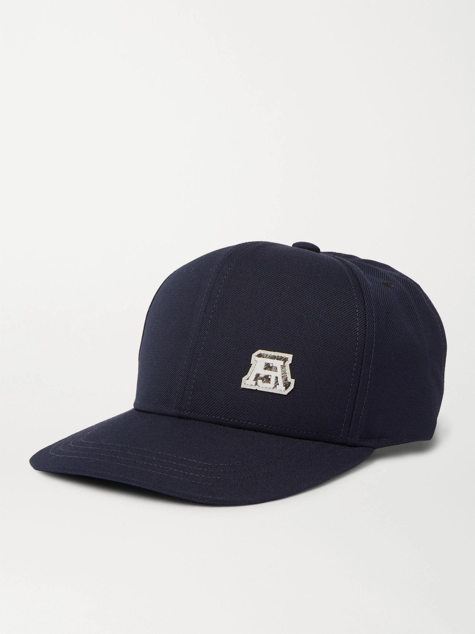 아크네 스튜디오 볼캡 모자 Acne Studios Logo-Appliqued Twill Baseball Cap,Navy