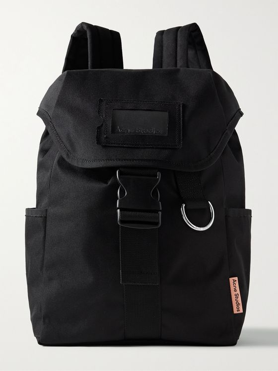 ACNE STUDIOS Webbing-Trimmed Twill Backpack