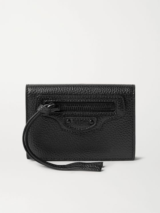 BALENCIAGA Full-Grain Leather Coin Wallet