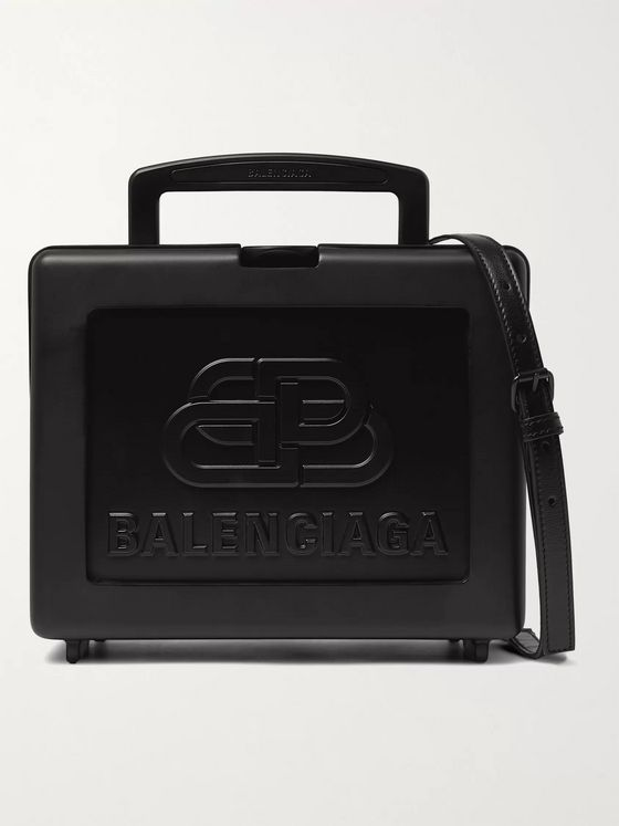 BALENCIAGA Logo-Embossed Resin Messenger Bag