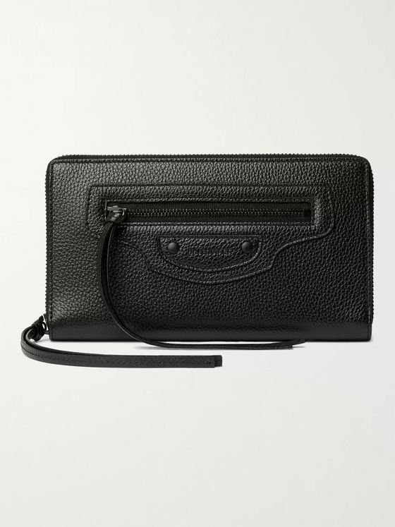 BALENCIAGA Full-Grain Leather Zip-Around Wallet