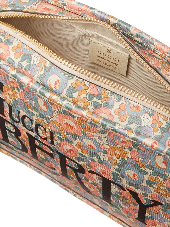 GUCCI + Liberty Printed Leather Wash Bag
