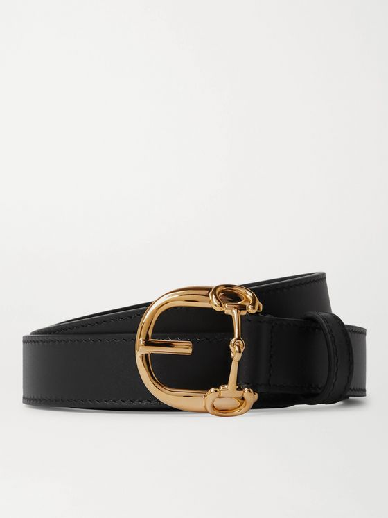 Gucci 2.5cm Horsebit Leather Belt