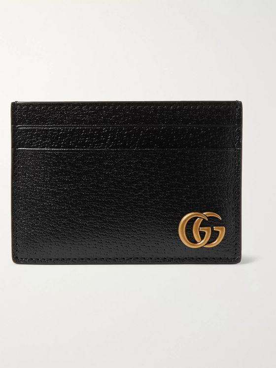 Gucci GG Marmont Full-Grain Leather Cardholder with Money Clip