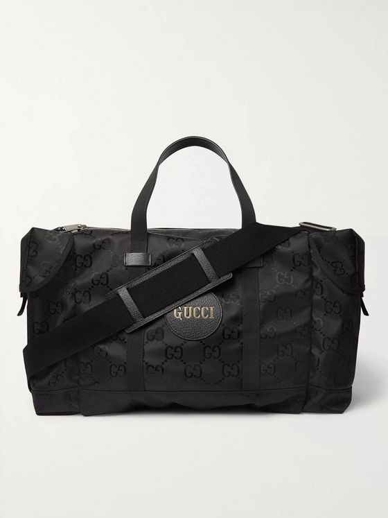 GUCCI Off the Grid Leather-Trimmed Monogrammed ECONYL Canvas Duffle Bag
