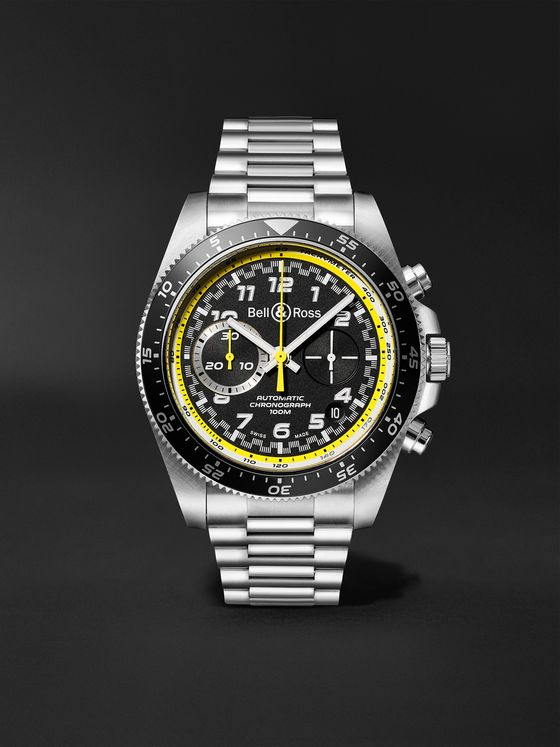 BELL & ROSS BR V3-94 R.S.20 Limited Edition Automatic Chronograph 43mm Stainless Steel Watch, Ref. No. BRV394-RS20/SST