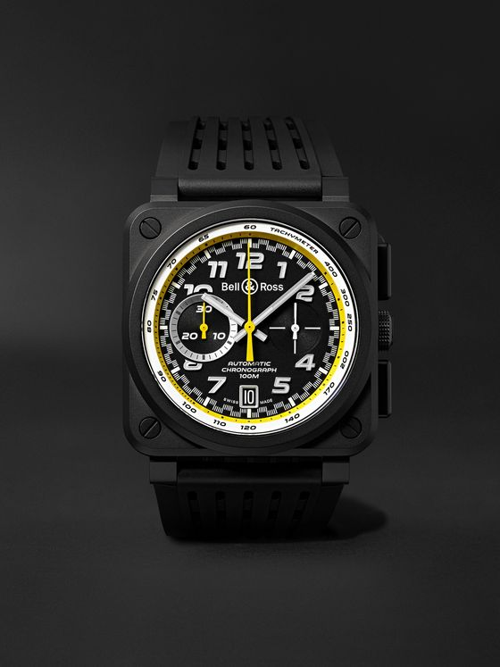 Bell & Ross BR 03-94 R.S.20 Renault Limited Edition Automatic Chronograph 42mm Ceramic and Rubber Watch