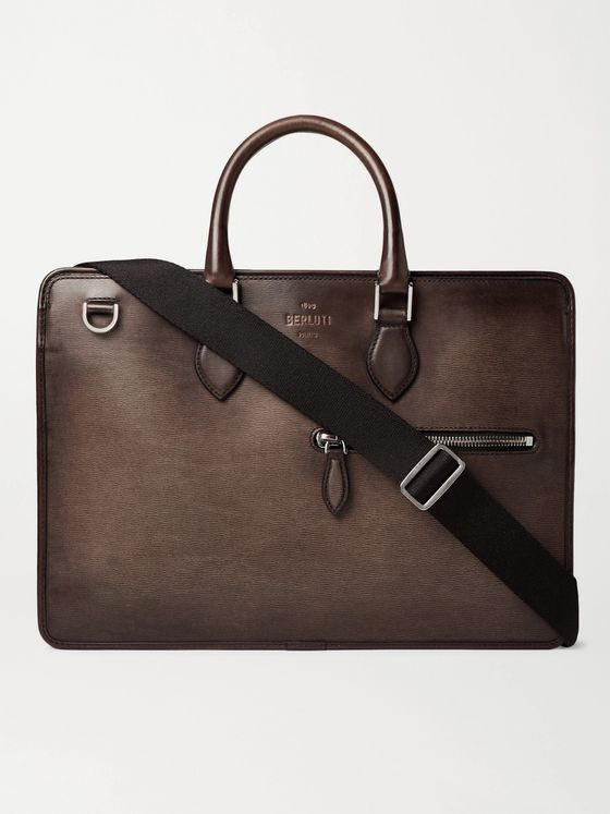 Berluti Textured-Leather Briefcase