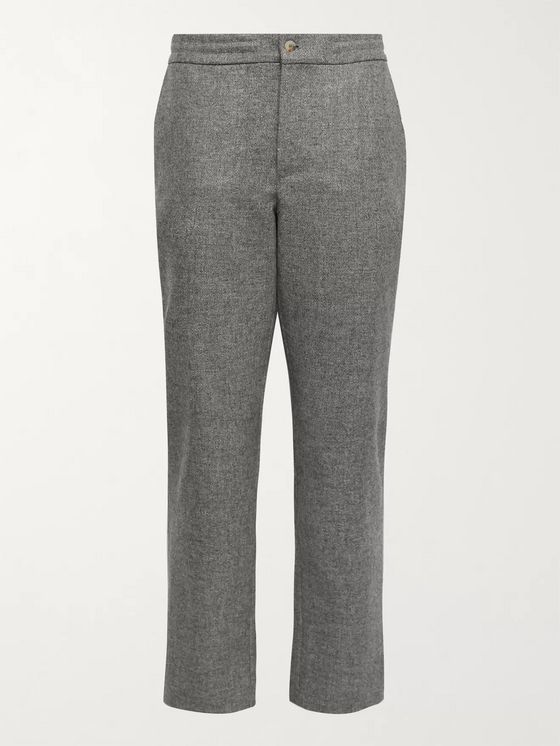 DE BONNE FACTURE Slim-Fit Wool-Tweed Suit Trousers